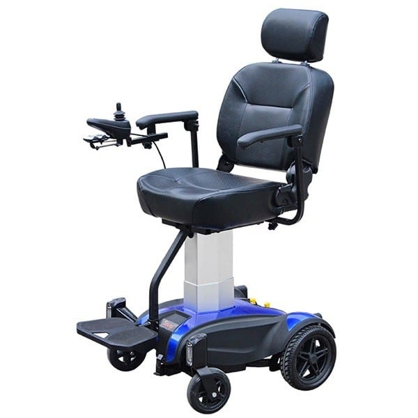 Electric Wheelchair - Solax - Seat Lift - Blue