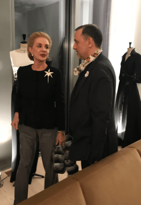 Herve Pierre and Carolina Herrera Prima Darling