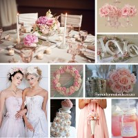 Pink and white shabby chic wedding - Primadonna Bride