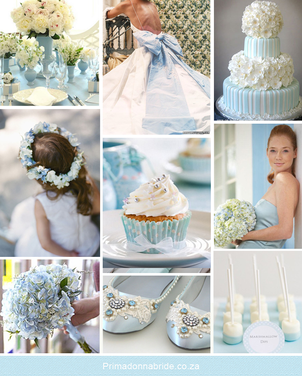 Light blue and white wedding inspiration  Primadonna Bride