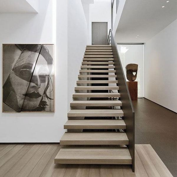 Wooden Floating Staircase Design