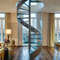Modern Spiral Staircase Steel Stair with Stainless Steel ...
