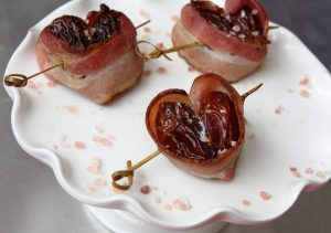 """I'm Bacon You For A Date"" Heart Skewers"