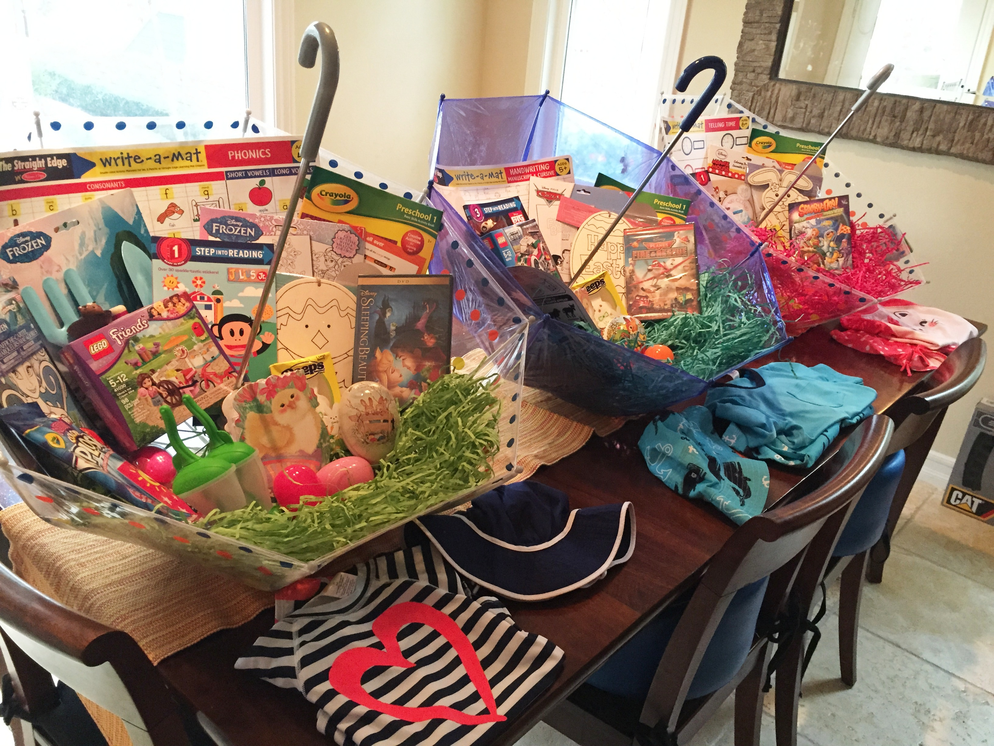 Baby Gift Baskets Boots : Make your own umbrella easter baskets non candy centered