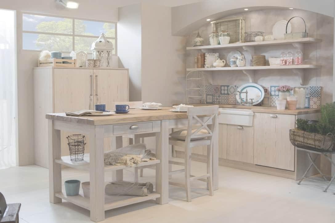 Cucina in Muratura Shabby Chic  La Cucina Rustica Bianca
