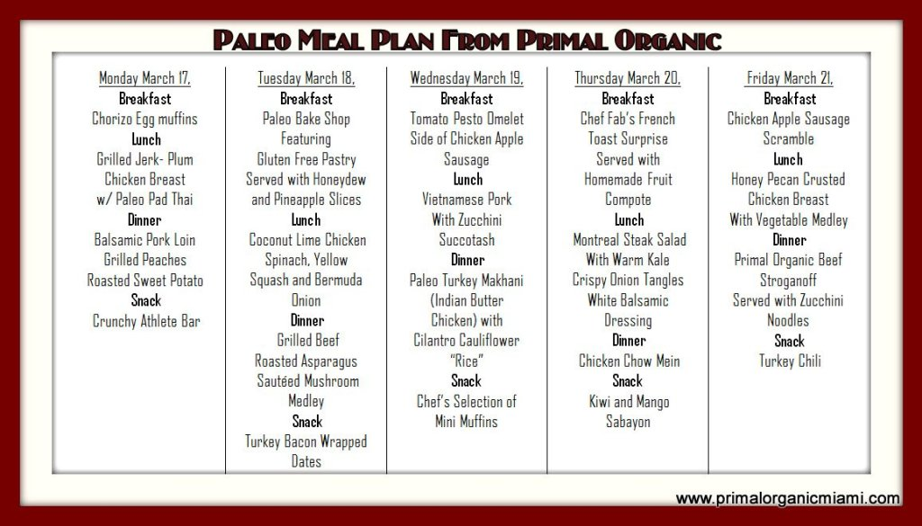 Paleo Hialeah Diet Delivery