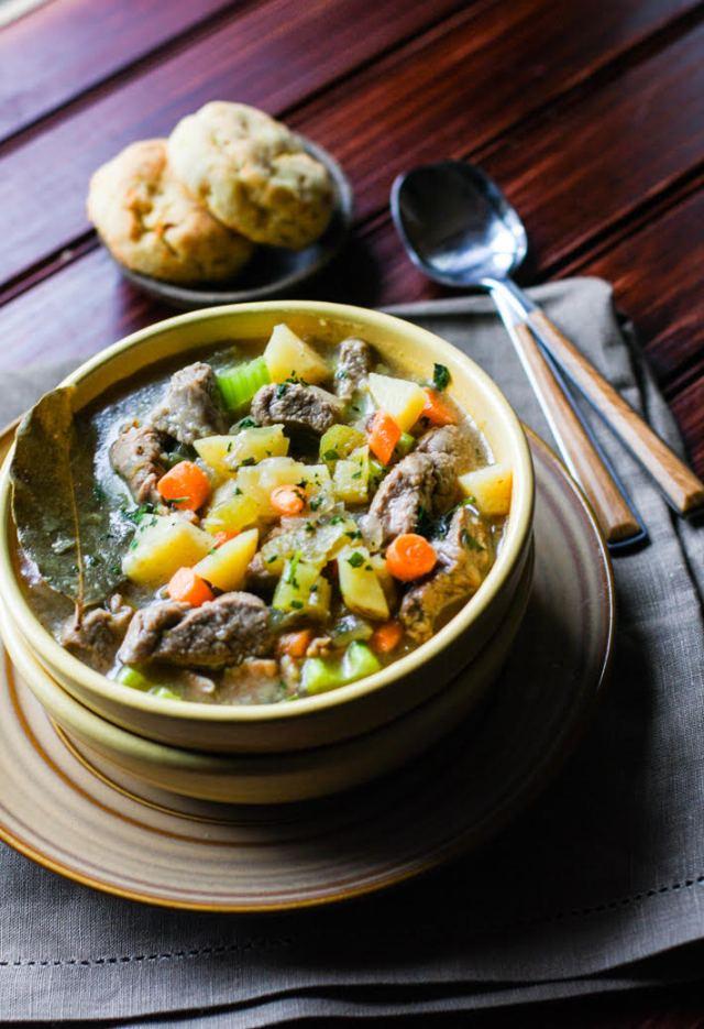 One Pot Bacon Barised Lamb Stew