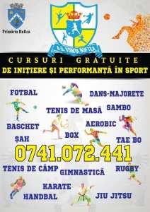 Cursuri gratuite de initiere si performanta in sport