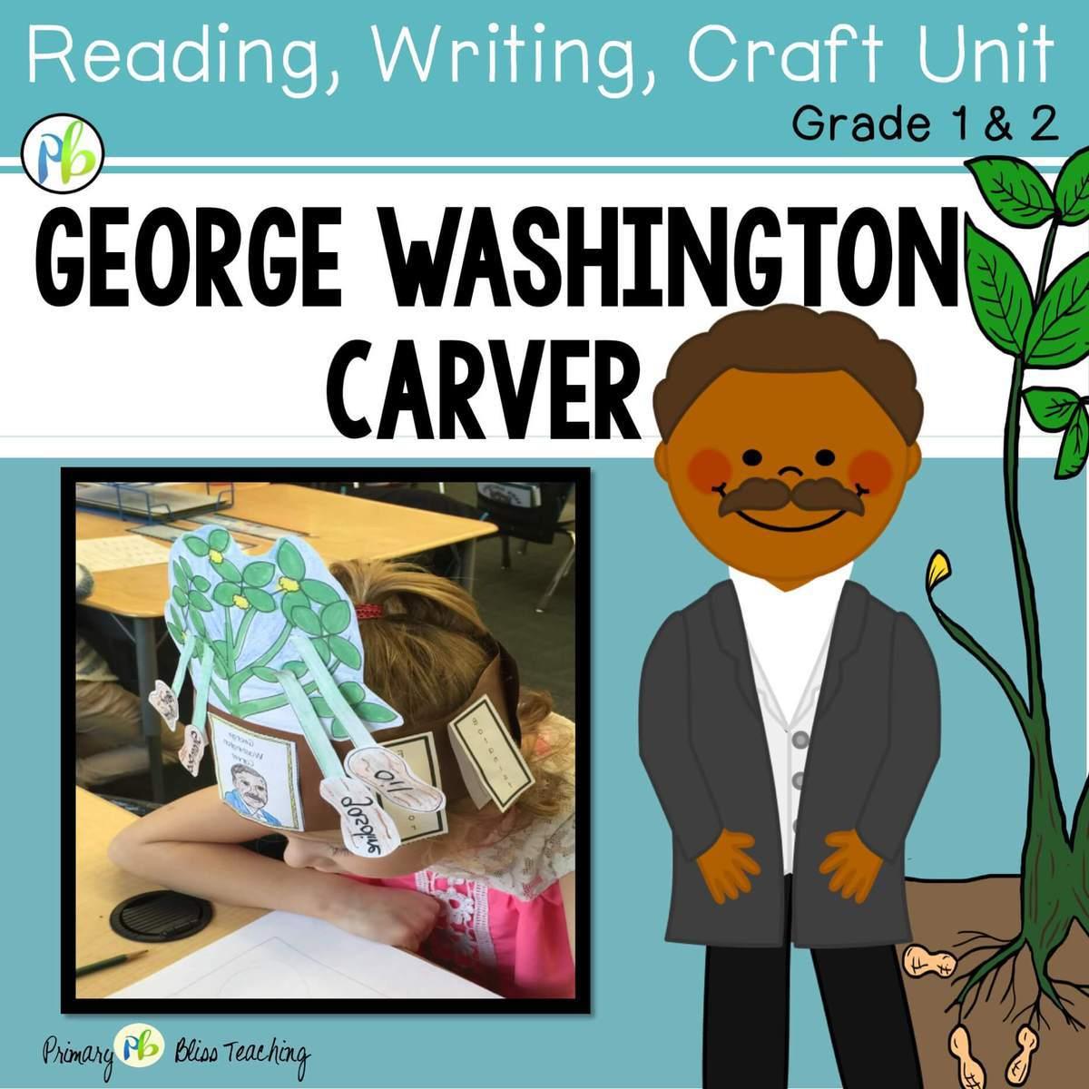 George Washington Carver Reading Writing Amp Peanut Plant