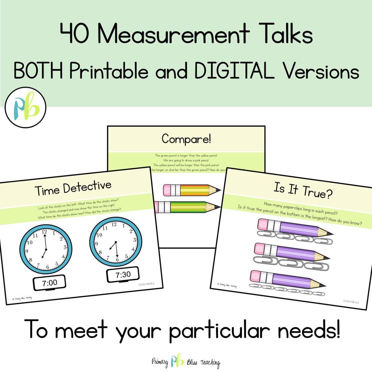First Grade Measurement Number Talks