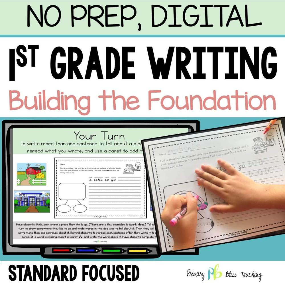 medium resolution of TEACHING BEGINNING OF YEAR FIRST GRADE WRITING HAS NEVER BEEN EASIER    Primary Bliss Teaching