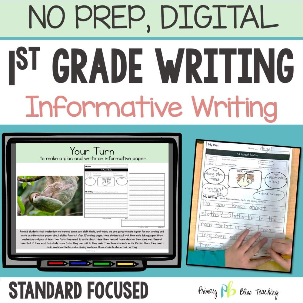 medium resolution of TEACHING INFORMATIVE WRITING IN FIRST GRADE   Primary Bliss Teaching