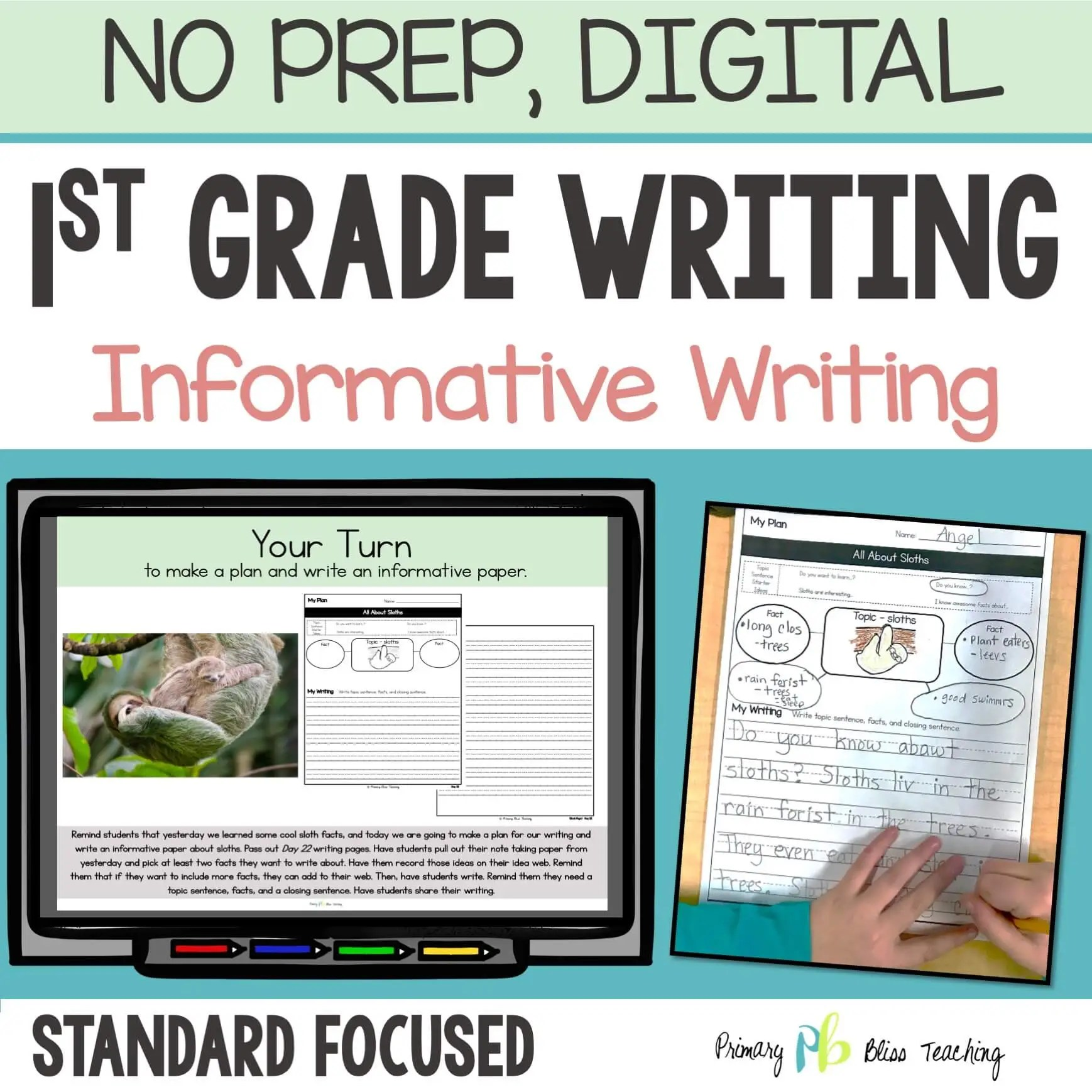 hight resolution of TEACHING INFORMATIVE WRITING IN FIRST GRADE   Primary Bliss Teaching