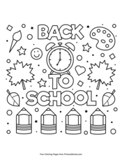 Back To School Coloring Pages • FREE Printable PDF from
