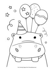 Happy Birthday Coloring Pages • FREE Printable PDF from