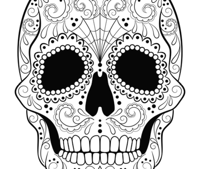 Sugar Skull Coloring Page  E  A Free Printable Pdf From Primarygames