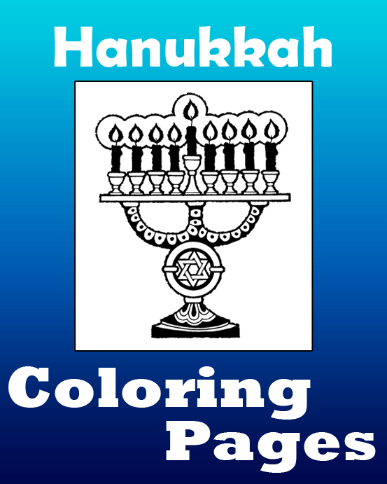 Hanukkah Coloring Pages  Printable Coloring eBook