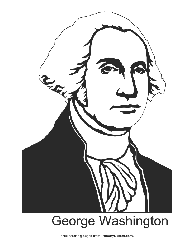 George Washington Coloring Page Free Printable Pdf From Primarygames