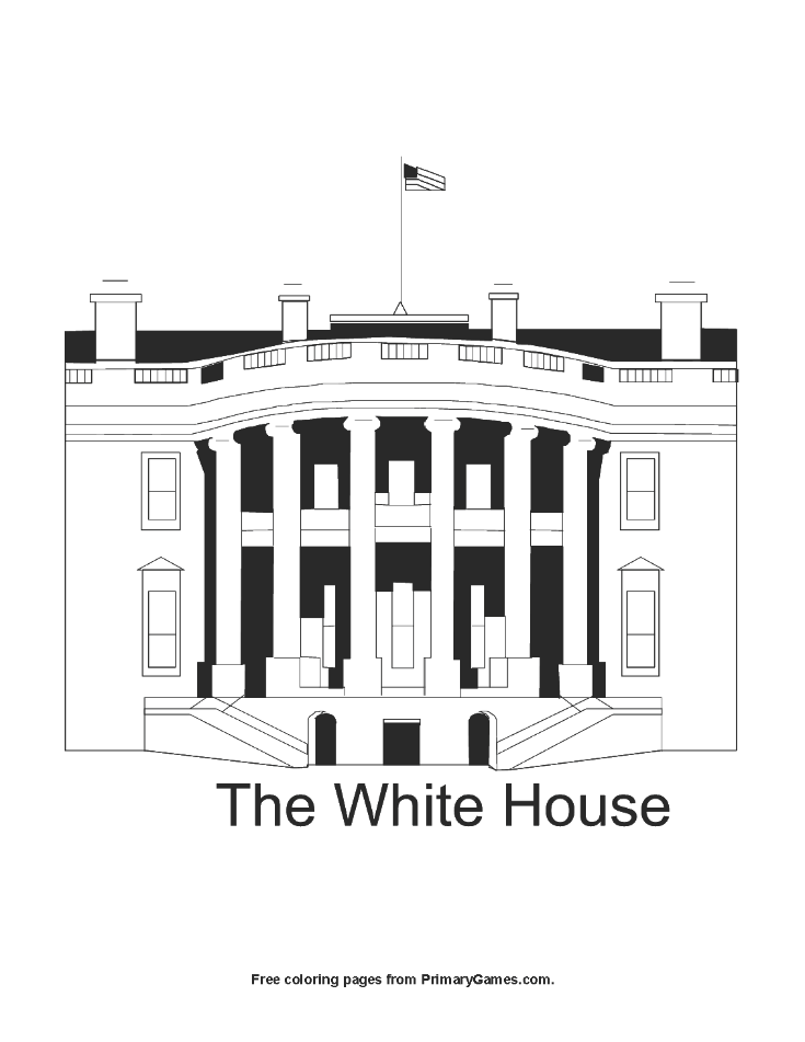 The White House Coloring Page Printable Presidents Day