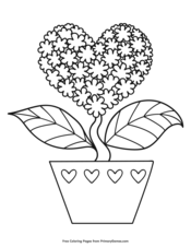 Valentine's Day Coloring Pages • FREE Printable PDF from