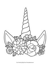 Unicorn Coloring Pages • FREE Printable PDF from PrimaryGames