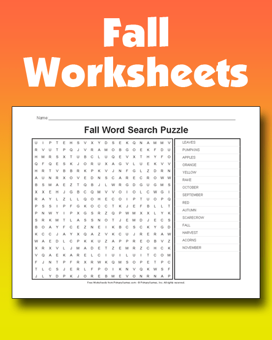 Fall Worksheets PrimaryGames Play Free Online Games