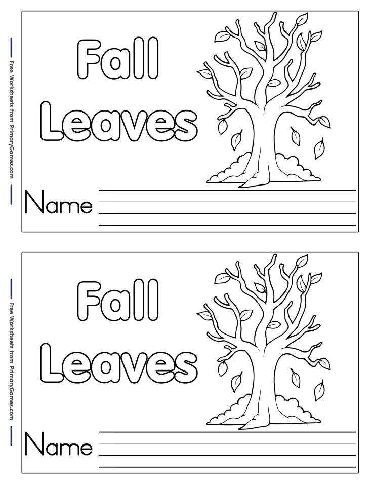 Fall Worksheets Fall Leaves Mini Book Page 1