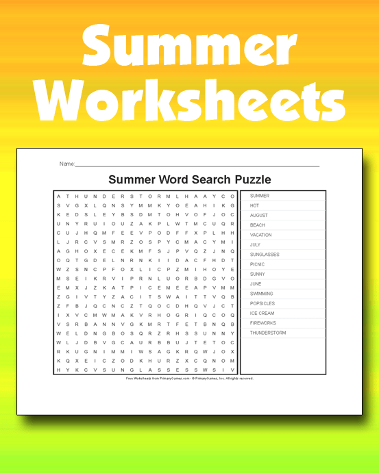 Summer Worksheets PrimaryGames Play Free Online Games