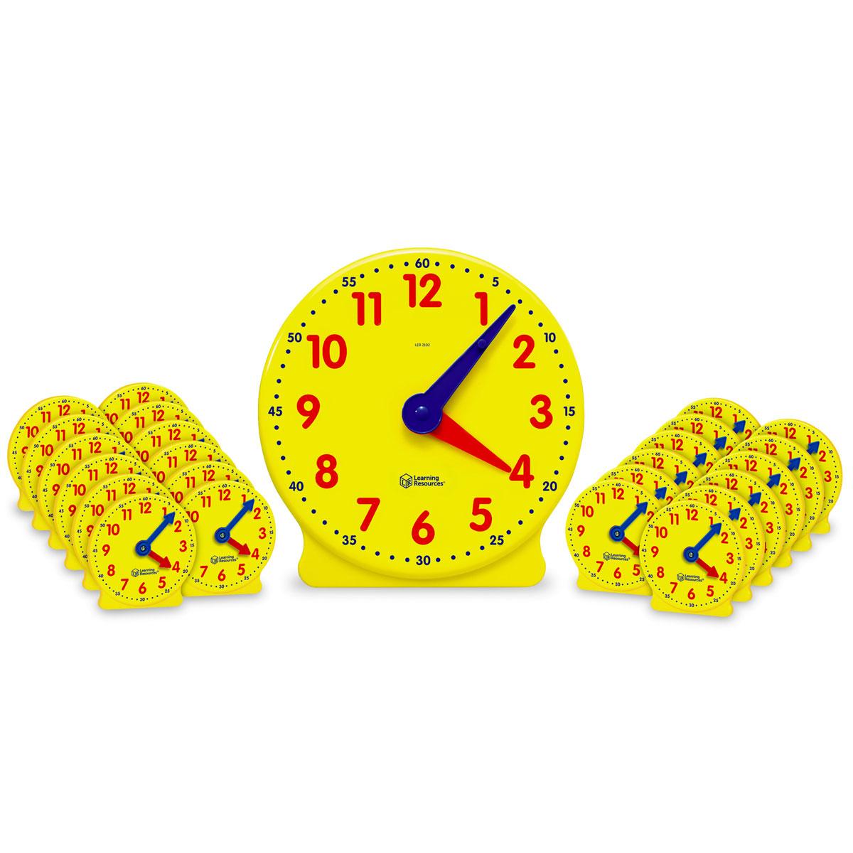 Big Time Classroom Geared Clock Bundle
