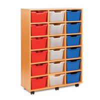 Buy 18 Cubby Tray Storage Unit | Primary ICT Shop for ...