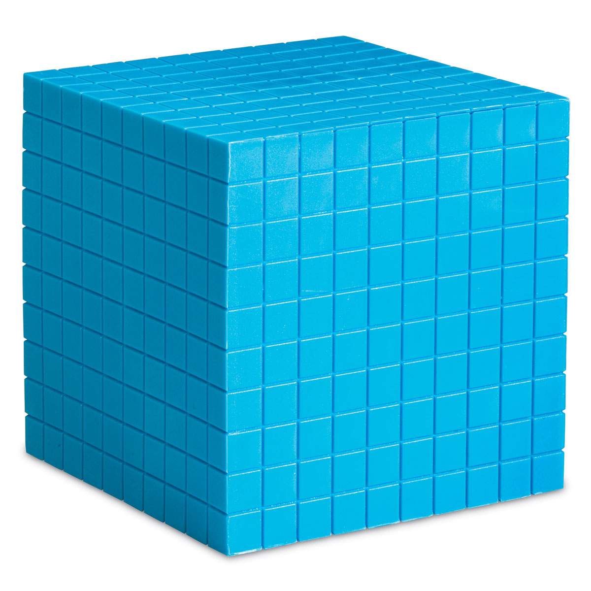 Grooved Base 10 Plastic Thousand Cube