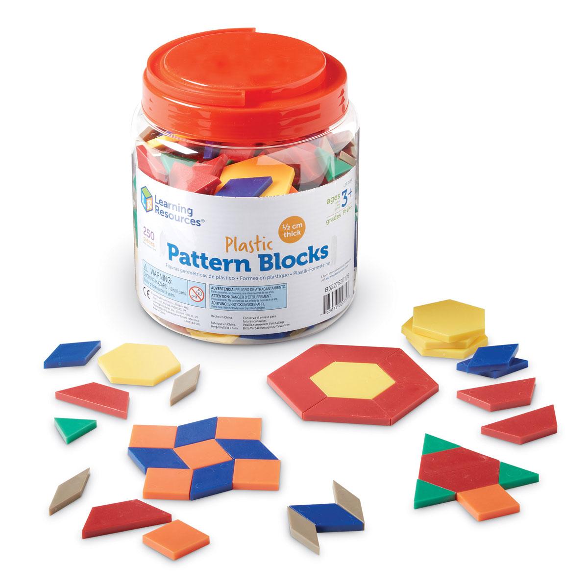 0 5cm Plastic Pattern Blocks