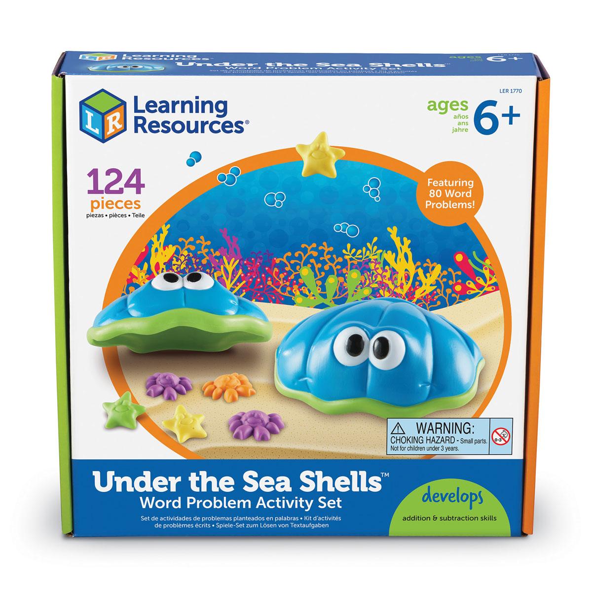 Under The Sea Shells Maths Word Problem Activity Set