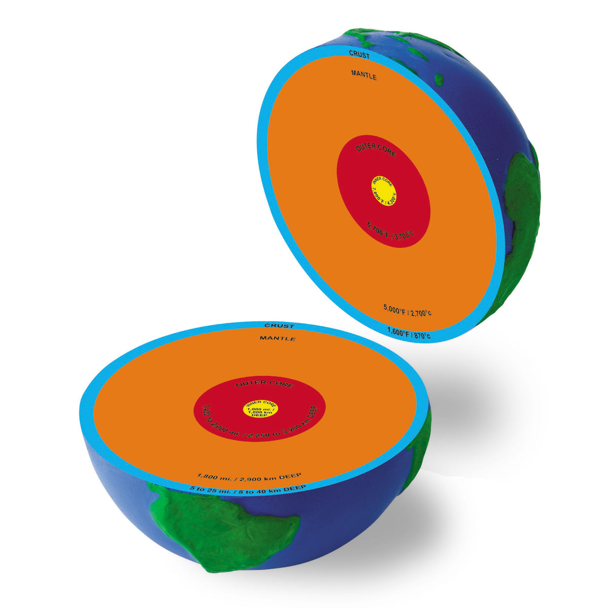 hight resolution of  soft foam cross section earth model by learning resources ler2437