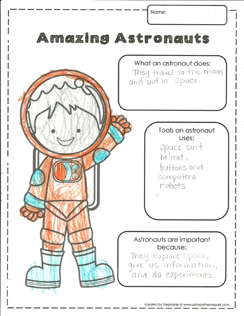 hight resolution of Space Themed Writing Ideas for Kindergarten - Primary Theme Park