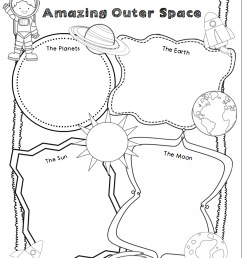 Space Themed Writing Ideas for Kindergarten - Primary Theme Park [ 1080 x 828 Pixel ]