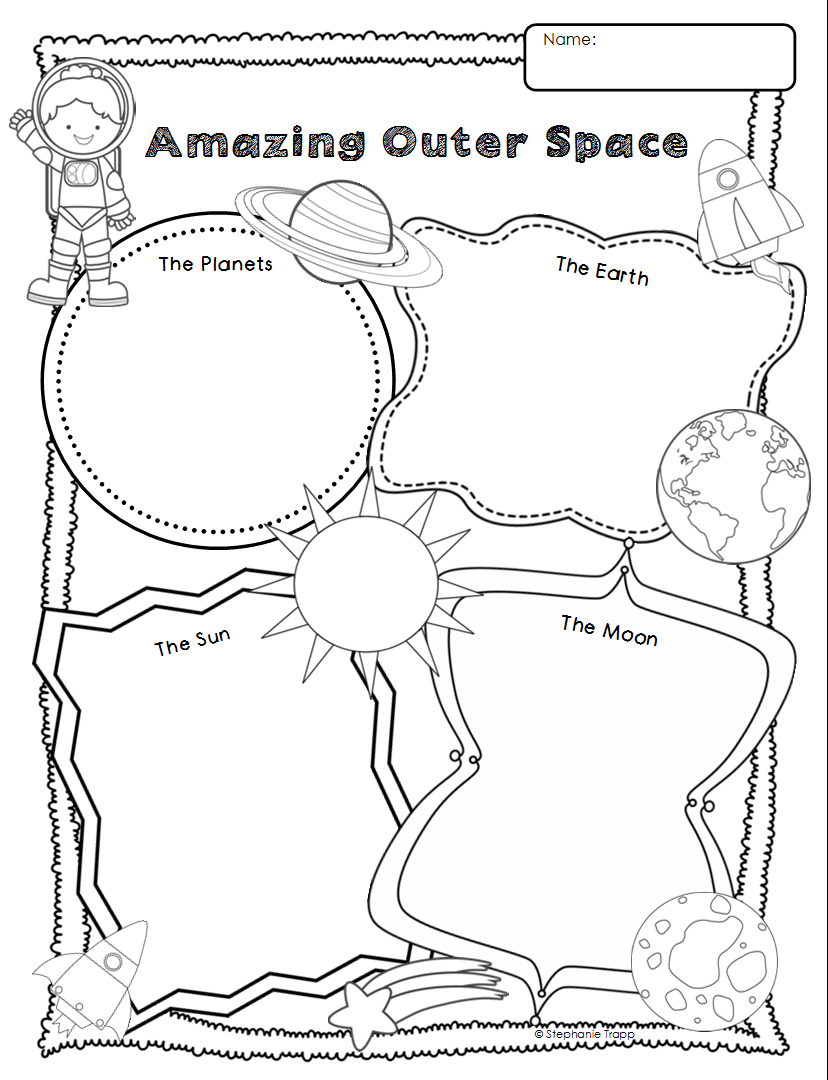 medium resolution of Space Themed Writing Ideas for Kindergarten - Primary Theme Park