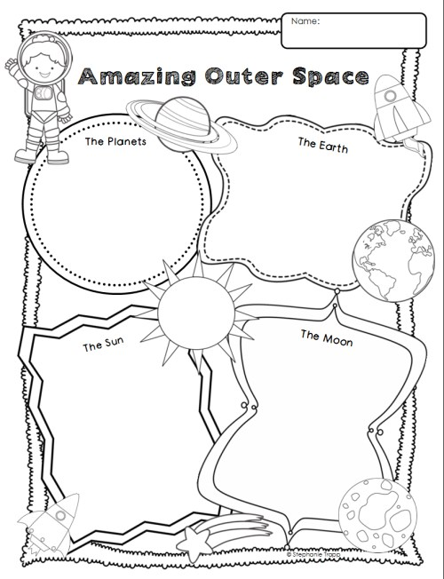 small resolution of Space Themed Writing Ideas for Kindergarten - Primary Theme Park