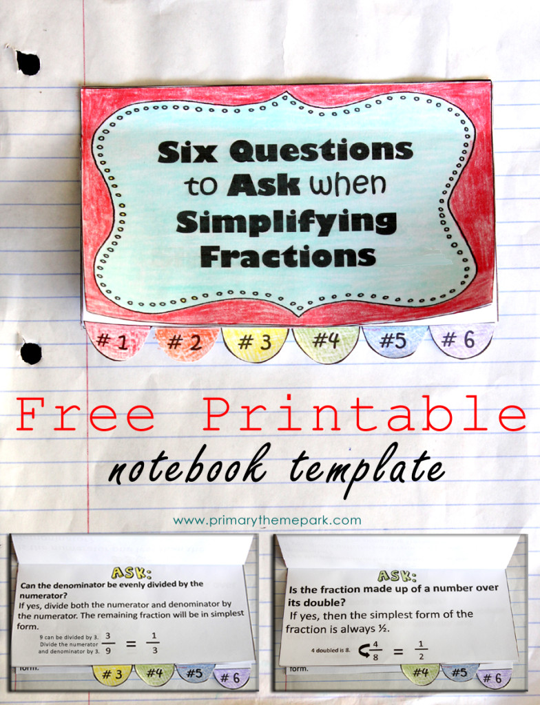 medium resolution of Simplifying Fractions Worksheet and Template