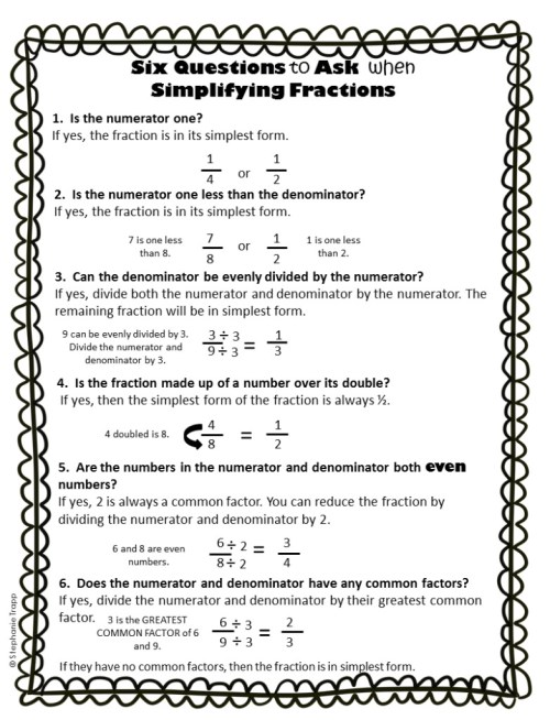 small resolution of Simplifying Fractions Worksheet and Template