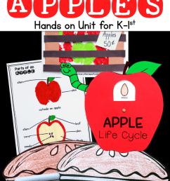 Apple Unit for Kindergarten and First Grade [ 1500 x 1000 Pixel ]