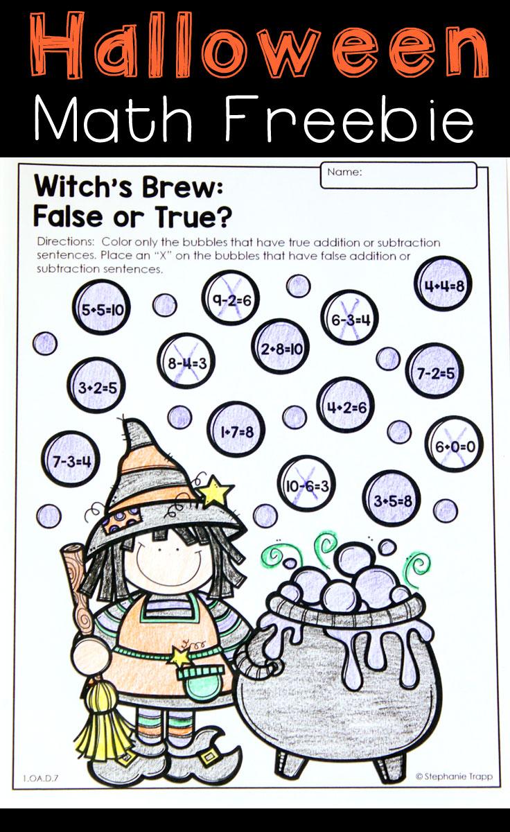 medium resolution of Halloween Math Activities - Primary Theme Park