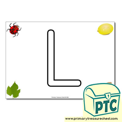 Uppercase 'L' Bubble Letter Formation Activity Sheet with