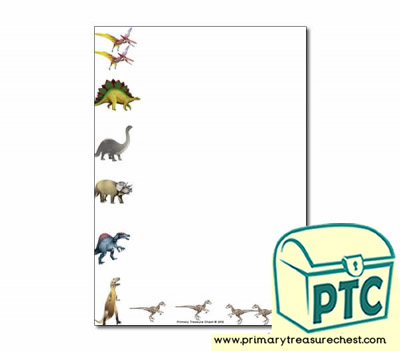Dinosaur Themed Page Borders/Writing Frames (no lines