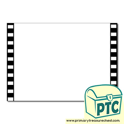 Camera Film Landscape Page Border/Writing Frame (no lines
