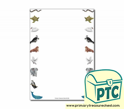 Animal Migration Themed Page Border/Writing Frame (no