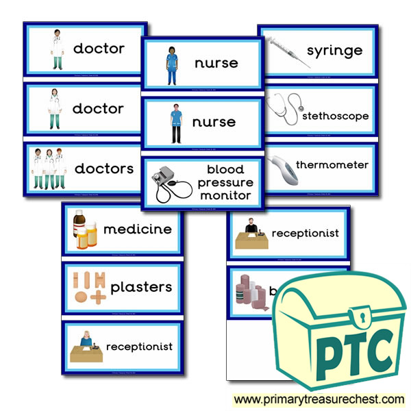 Doctors Surgery Themed Flashcards Primary Treasure Chest