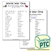 World War One Teaching Resources - Primary Treasure Chest