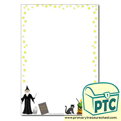 Magic Spells Page Border /Writing Frame (no lines