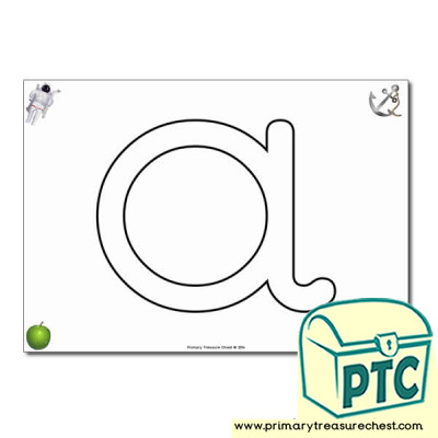 'a' Bubble Letters Formation Activity